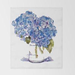 Cape Cod Hydrangea Large Canvas Throw Blanket