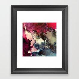 Dark Inks - Alcohol Ink Painting Framed Art Print