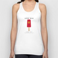 aquaman Tank Tops featuring My SUPER ICE POP- No06 - IRON MAN by Chungkong