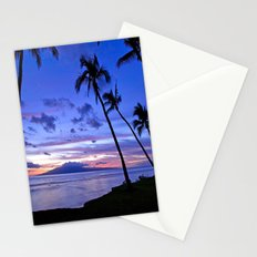 BEACH AND PALM TREES Stationery Cards