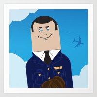 airplane Art Prints featuring Airplane by Brettmatic