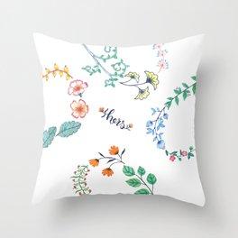 HeartilyEverAfter Pillow Cover (Hers) Throw Pillow