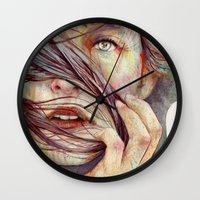 wind Wall Clocks featuring Opal by Michael Shapcott