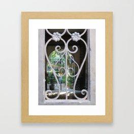 New Orleans: Secret Garden Framed Art Print