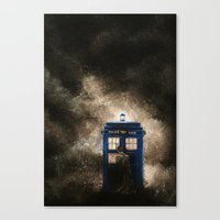 dr who Canvas Prints featuring Dr. Who by Redeemed Ink by - Kagan Masters