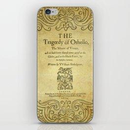 Shakespeare. Othello, 1622. iPhone Skin