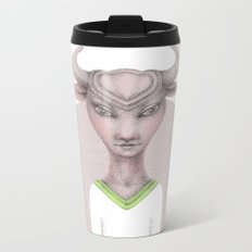 taurus astro portrait Metal Travel Mug