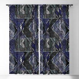 Geometric grunge print-1. Blackout Curtain