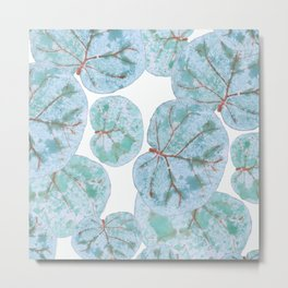 Sea Grape Tropical Leaves Metal Print