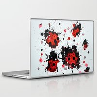 bugs Laptop & iPad Skins featuring Splattered bugs by Condor