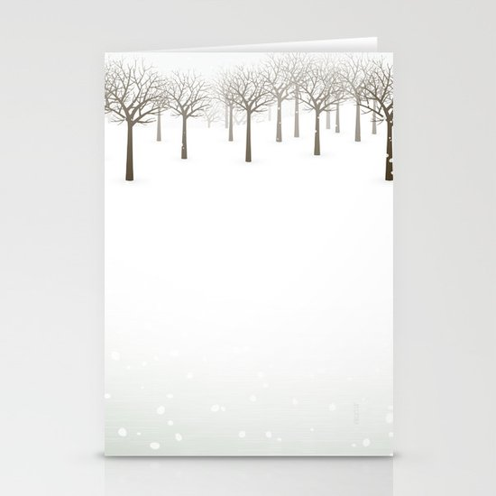 Winter Forest by Friztin Stationery Cards