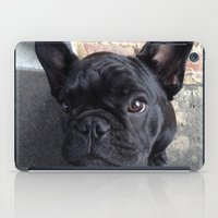 frenchie iPad Cases featuring Frenchie by Gabrielle Burns