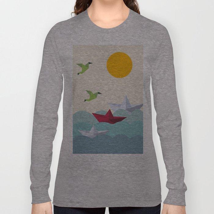 Origami World Long Sleeve T-shirt