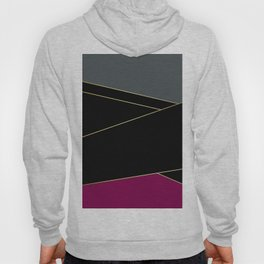 Angelica . Burgundy , gray , black Hoody