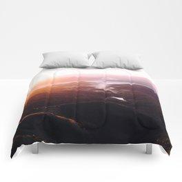 Morning Glory Mountain Landscape Comforters