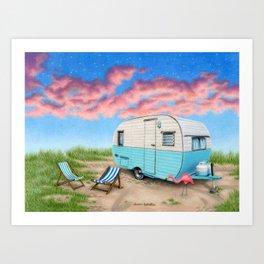 The Happy Camper Art Print