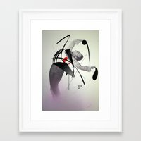 tom waits Framed Art Prints featuring Tom waits by PandaGunda