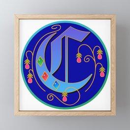 Initial Letter C Framed Mini Art Print