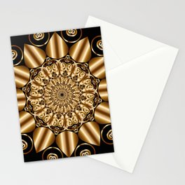 Golden mandala Stationery Cards