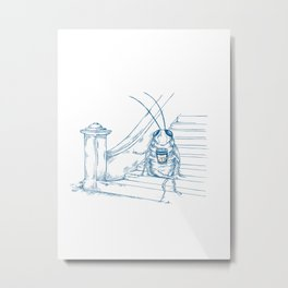 Cup O' Coffee NYC Style_cockroach Metal Print