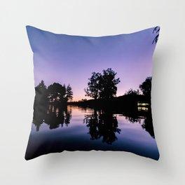 LAKE NIGHT Throw Pillow