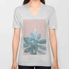 Blush Cactus #1 #plant #decor #art #society6 Unisex V-Neck