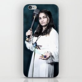 Aasimar Cleric of Enlil with Hammer Cosplay iPhone Skin