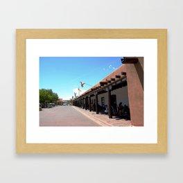 Santa Fe Old Town Square, No. 4 of 7 Framed Art Print