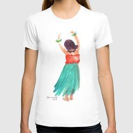 Hawaiian Hula Dancer 5 T-shirt