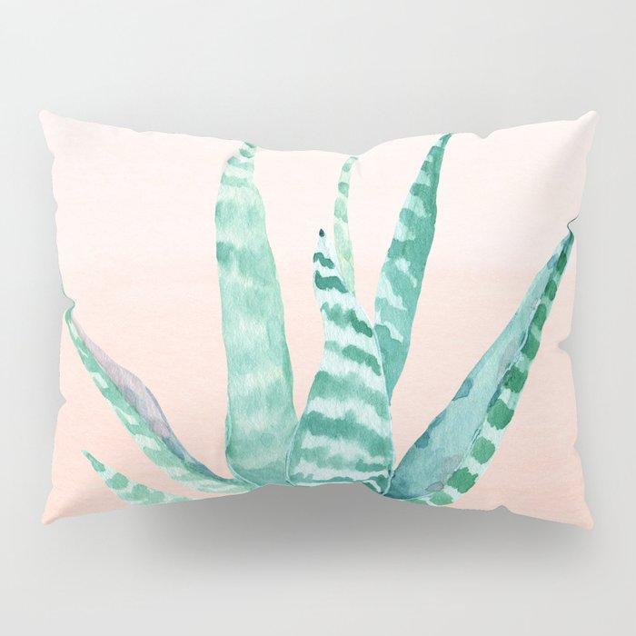 Desert Succulent Aloe Vera Pillow Sham