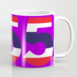 555 in the colors of the Thai flag Coffee Mug
