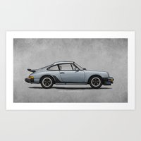1975 Art Prints featuring 1975 Porsche 911 Turbo by Andy McDonnell
