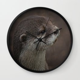 Portrait Of A Young Otter Wall Clock