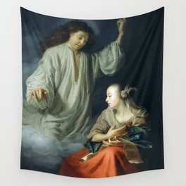 The Annunciation by Godfried Schalcken (1665) Wall Tapestry