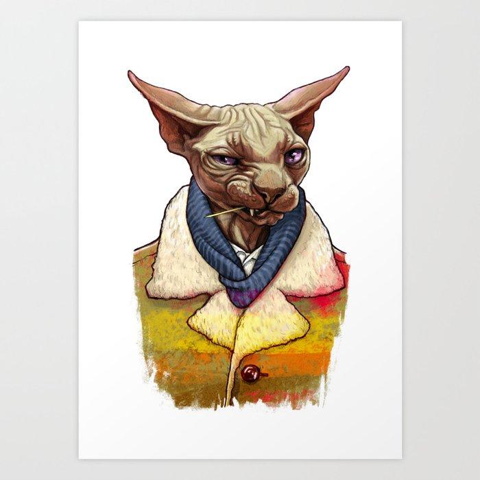 Bald cat Kunstdrucke