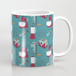 Retro Kitchen - Teal and Raspberry Coffee Mug