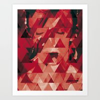 bowie Art Prints featuring Bowie by Aive Trujillo Photography