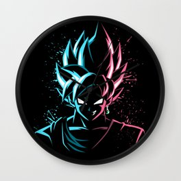 Face to face Blue vs Rose Wall Clock