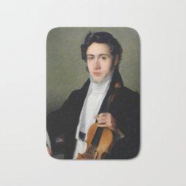 Portait of young Niccolò Paganini Bath Mat