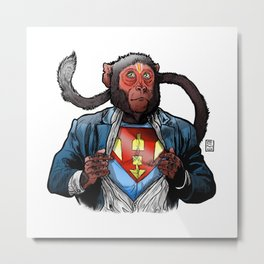 Super Hanu (Light Background) Metal Print