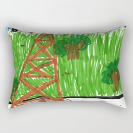 a sunny day in Paris at the Eiffel Tower Rectangular Pillow