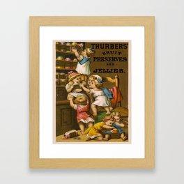 Vintage poster - Fruit Preserves and Jellies Framed Art Print
