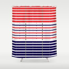 Red White & Blue in lights Shower Curtain