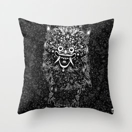 Bali Mask Throw Pillow