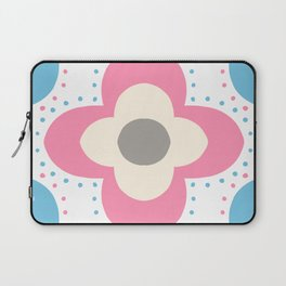 Decorative background in Nordic style in pink and light blue colors Laptop Sleeve