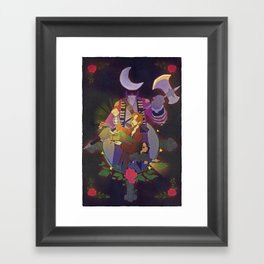 Sleepy Hollow - Abbie and Crane Framed Art Print