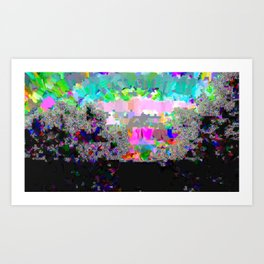 Glitchy Sunrise Art Print