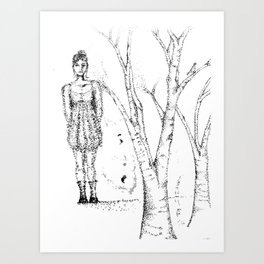 stipples Art Print