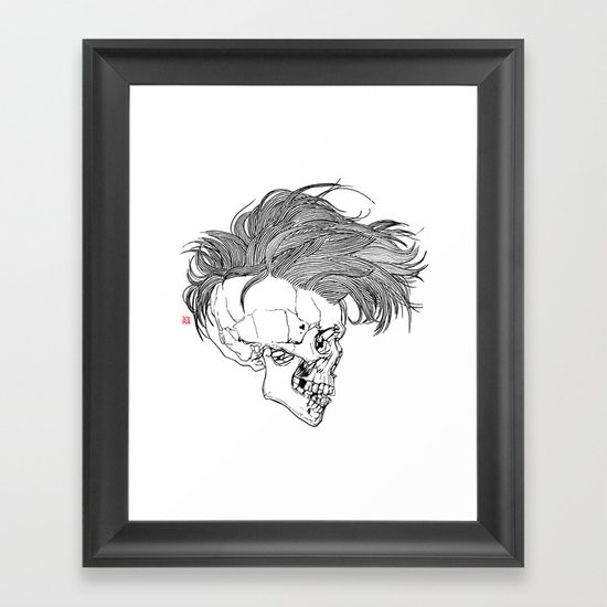 Death is New Punk Framed Art Print