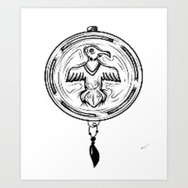 Indian medallion, custom gift design Art Print